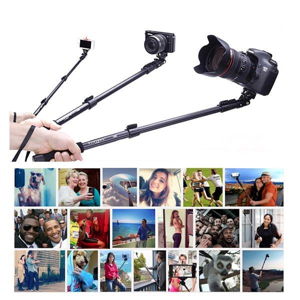 Выдвижная ручной портрет Автоспуск монопод алюминиевого сплава Selfie Stick для цифровой GoPro Спорт камеры и сотового телефона Yunteng 188