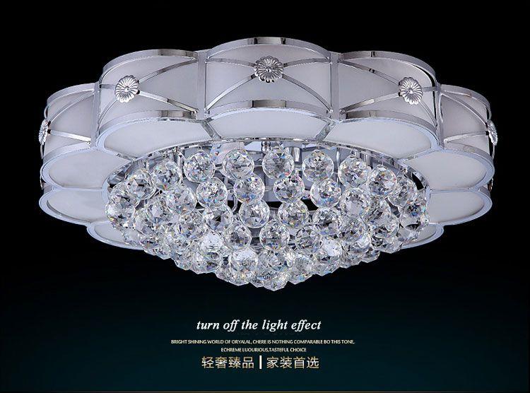 Acheter En Soldes! Grand Plafonnier LED En Cristal Décoré Au Design Moderne  Avec Télécommande Intelligente De $237.35 Du Loyalqin | DHgate.Com
