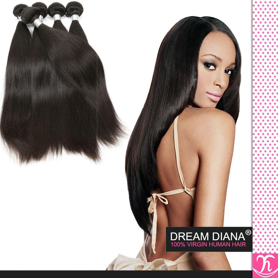 2015 горячие продажи 6а Грейс бразильской девственницы человеческих шелковистых прямых волос утки 4 пучки много 100 человеческих волос расширение бразильских волос ткать