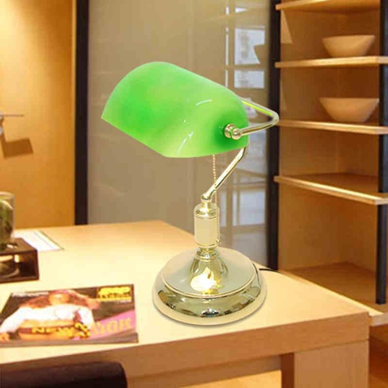 Vintage bank table lamps retro brass bankers lamp green glass vintage bank table lamps retro brass bankers lamp green glass lampshade office study room table lamps desk lamp 2018 from goodsoft 14191 dhgate mobile aloadofball Images