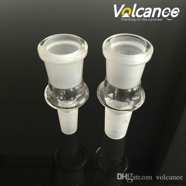 Adaptador de tubulação de vidro 12 estilos 10mm 14mm 18mm adaptadores masculinos femininos para cachimbos tubos de água dos bongos