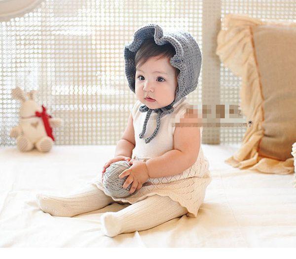 Compre Recién Nacido Hecho A Mano Crochet Flores Sombreros Bebé ...