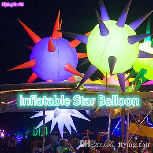 3m LED Lighting Inflatable Star Balloon for Party and Stage Decoration