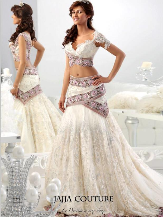 African Traditional 2017 Lace Wedding Dresses Two Pieces Bridal