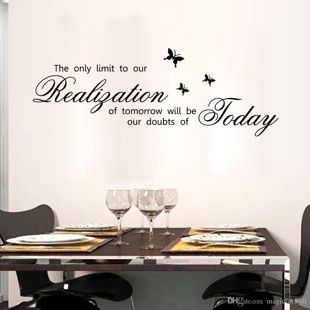 The only limit to our realization of tomorrow will be our doubts of today wall quote decor decal stickers lettering wall murals