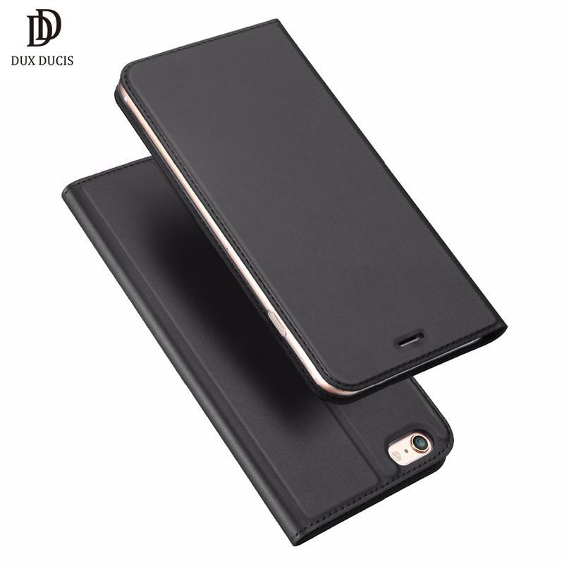 Dux Ducis Luxury Pu Funda de cuero para Iphone 6 Case 6s Plus Cartera con tapa de moda para Iphone 6 6s 7 Plus Coque Teléfono Hoesje