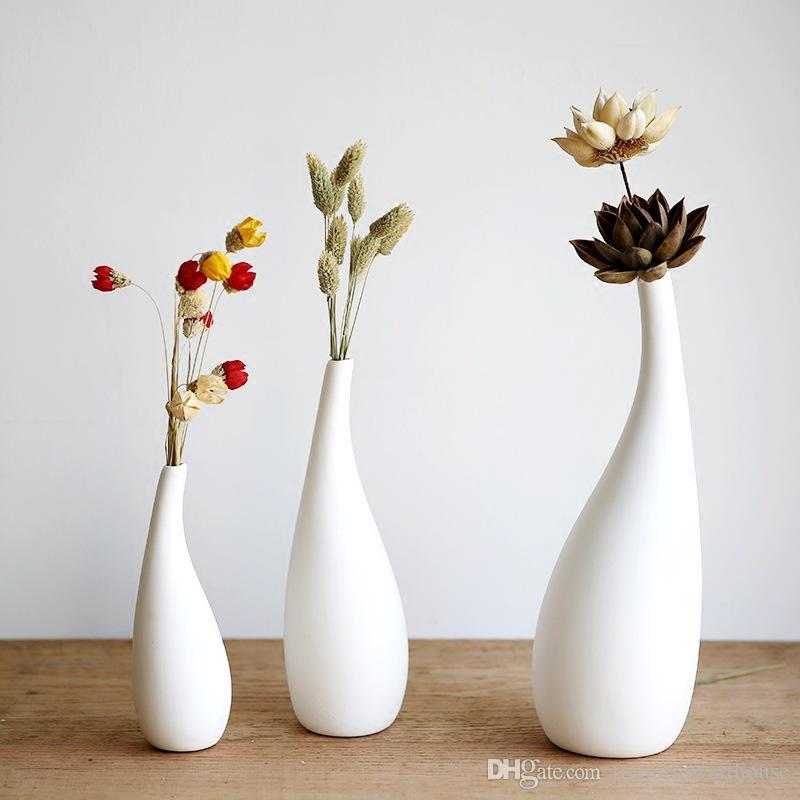 DHgate.com & Small Size Modern Streamline Ceramic Vase White Porcelain Flower Vase Decor Vase For Office Glass Vase Wholesale Glass Vase With Flowers From ...