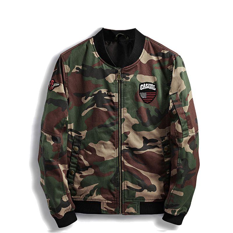 Marke Herren Herbst Jacke Camo Slim Fit Mäntel Männer Camouflage Mode Lässig Stehkragen Bomber Jacken Männer Hohe Qualität Jaqueta