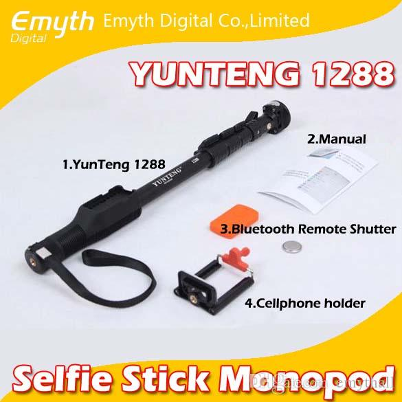 Aluminum alloy mobil phone Monopod Selfie Stick with Bluetooth Remote Shutter Rotary Self Portrait Self lock for iPhone IOS and Andriod