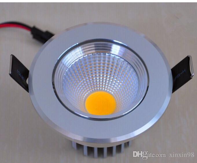 Hög effekt 10W dimbar COB LED downlight varm vit / ren vit / kall vit LED taklampor försänkt led ned ljus AC85-265V