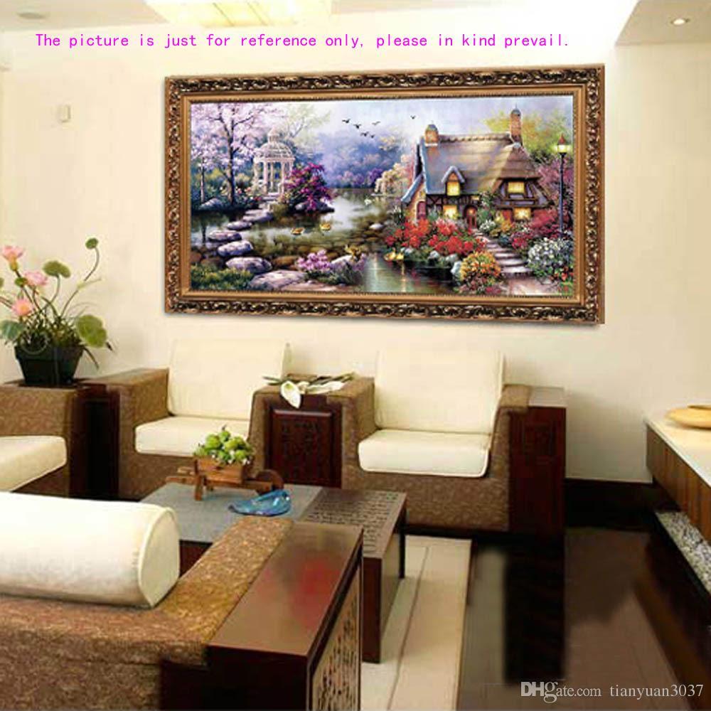 FAI DA TE Hobby Ricamo A Mano Kit Punto Croce Ricamo Set Stampato Cottage da Giardino Design Cuciture 65 * 40 cm Decorazione Della Casa TY549