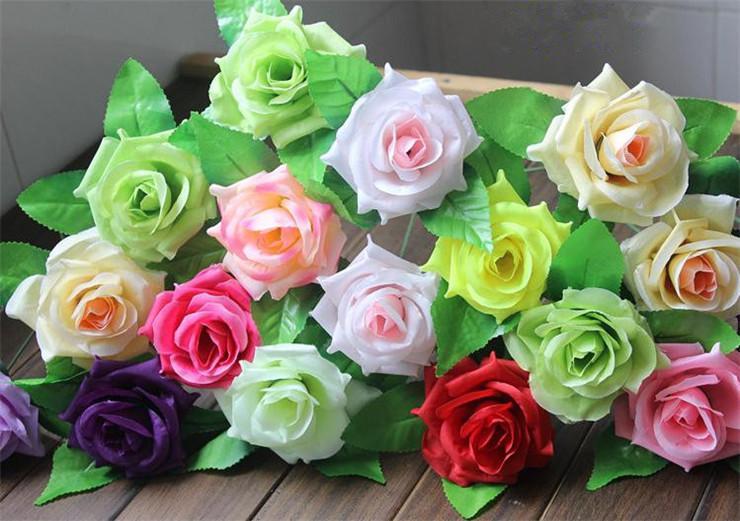 """HOT Silk Única Haste Rose 26 cm / 10.24 """"Comprimento Dia. 8 cm / 3.15"""" Flores Artificiais Curling Rosas Camélia para DIY Wedding Bouquet De Noiva"""