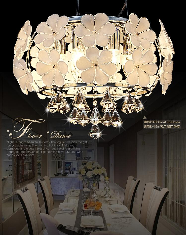 Online cheap fog white glass flower chandeliers simple and crystal short description aloadofball Choice Image