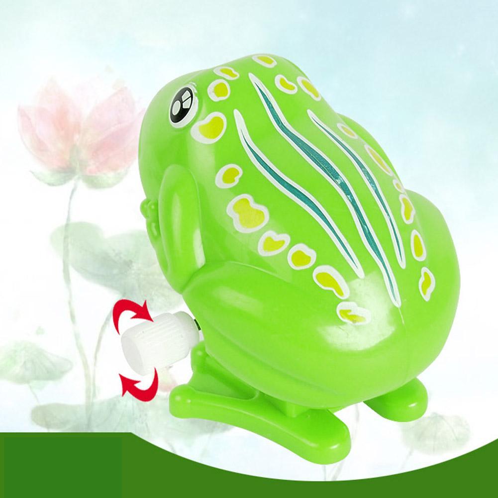 1 Pc Novo ABS Crianças Wind Up Clockwork Mini Toy Pull Voltar Pulando Sapo Brinquedos Melhor Presente para o Bebê Crianças Crianças Cor Verde
