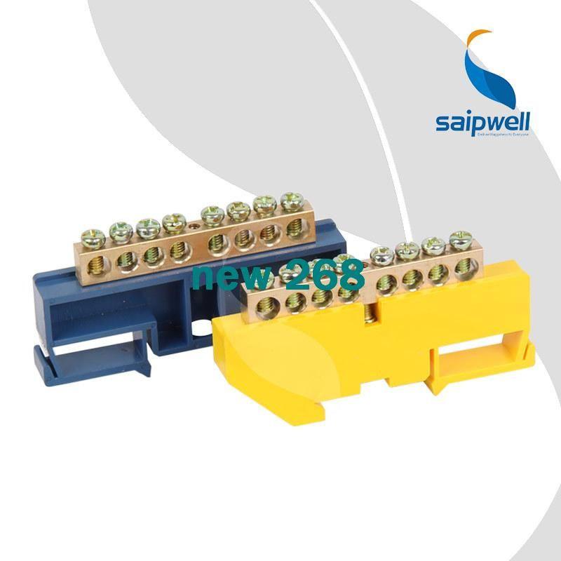 15pcs/lot,250V-450V Brass Screws Terminal 6*9mm Specification,8 Ways Green/Blue Electric Terminal Blocks Connector SP-002/8 6*9