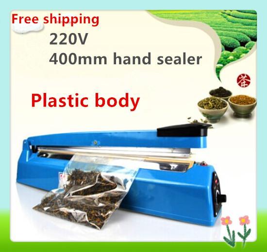 Free shipping,Good quality ,400mm hand Impulse Sealer, Heat Sealing Machine Heat Sealing Plastic Bag Closer Sealer Plastic body
