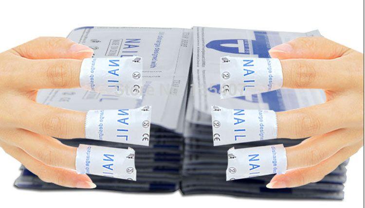 Neue 200 Teile / los Gel Lack Nagellack Folie Einfache Entferner Reiniger Wraps Aceton Kit kostenloser versand