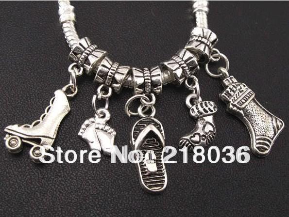 100Pcs Tibetan Silver,Gold,Broze Spacer Tube Beads Jewelry Making DIY M1145