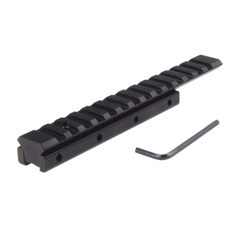 Compact Dovetail to Weaver Picatinny Rail Base Scope Mount Adapter Airgun Scope Mount 11 mm Long Base Adapter