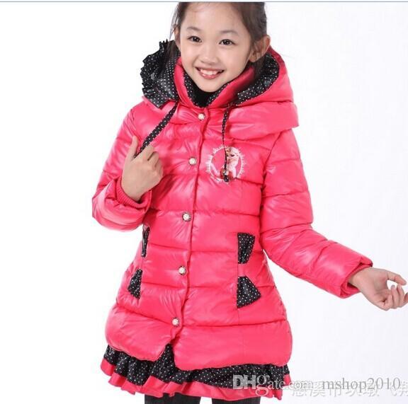 2016 Children Frozen Coats Long Girl Winter Jacket Girls Child