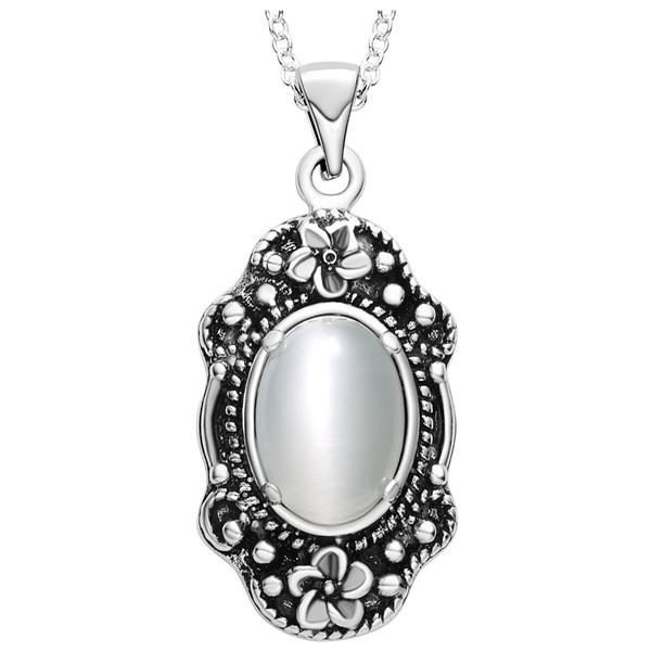 silver plating 925 Necklace Necklace New Retro opal necklace jewelry trade spot