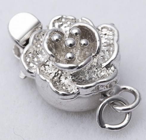 Горячие продать 925 серебряный сливовый образный жемчужное ожерелье застежка K003