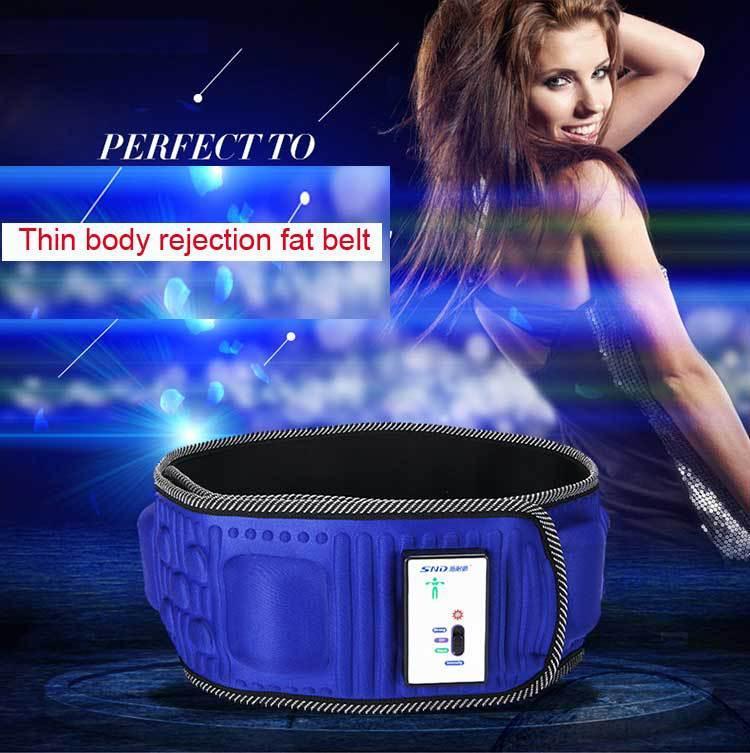 얇은 몸 거부 지방 벨트 슬리밍 파워 플레이트 복근 마사지 기계 얇은 허리 벨트 진동 무료 배송