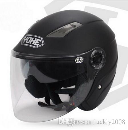 YOHE dual lens winter half face motorcycle helmet Eternal electric bicycle helmet motorbike helmet YH837A SIZE M L XL XXL 7 colors