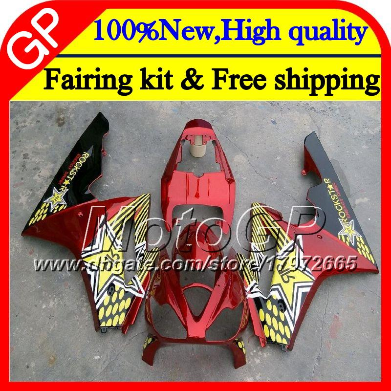 Bodys For Triumph Daytona 675 02 03 04 05 06 07 08 7GP12 Daytona 675 2002 2003 2004 2005 2006 2007 2008 Rojo dorado 02-08 Carenado de motocicleta