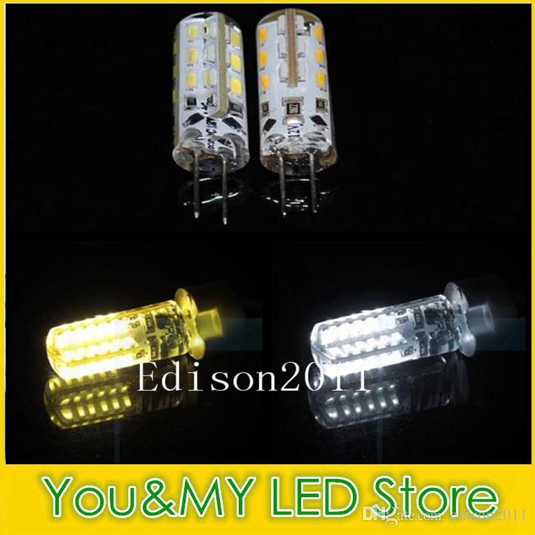 G4 3W Araba Ana lamba 50 ADET Ücretsiz GEMİ için Silika Jel Kristal Mum DC 12V LED 3014 SMD Ampul 24leds