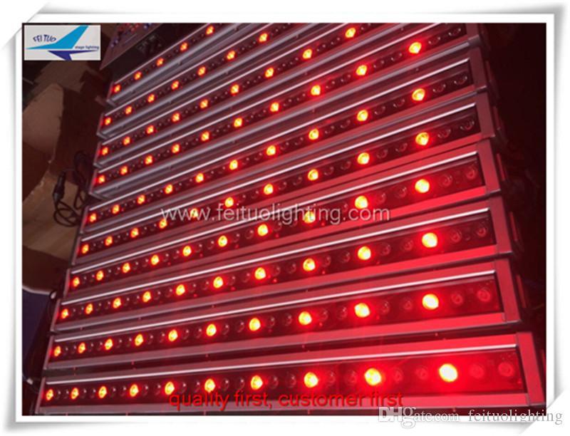 Spedizione gratuita per 8 pezzi 30x3w rgb monocolore miscelazione per esterni illuminazione murale a led per ip65 illuminazione a led