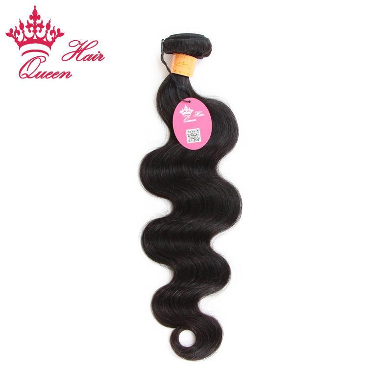 "Cabello de la reina 100% sin procesar Indian Virgin Human Weave Wave Wave Virgin Human Hair 12 ""-28"" 100 g / PC 1pc"