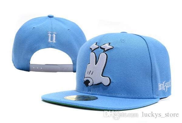 Nuovo berretto da baseball Unkut Snapback di nuovo arrivo in blu cappucci a buon mercato uomini e donne berretti da baseball piatto stampa hip hop casual per la spedizione gratuita