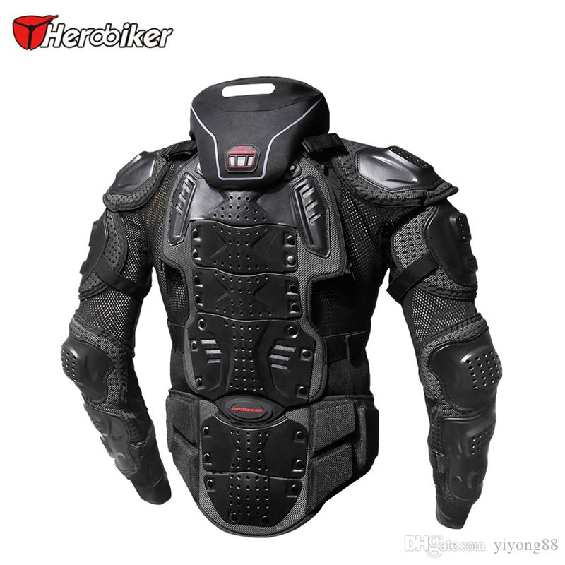 HEROBIKER Motorcycle Armor Jacket Motocross Racing Riding Offroad Protective Gear Body Guards Outdoor Sport Add Neck Prodector