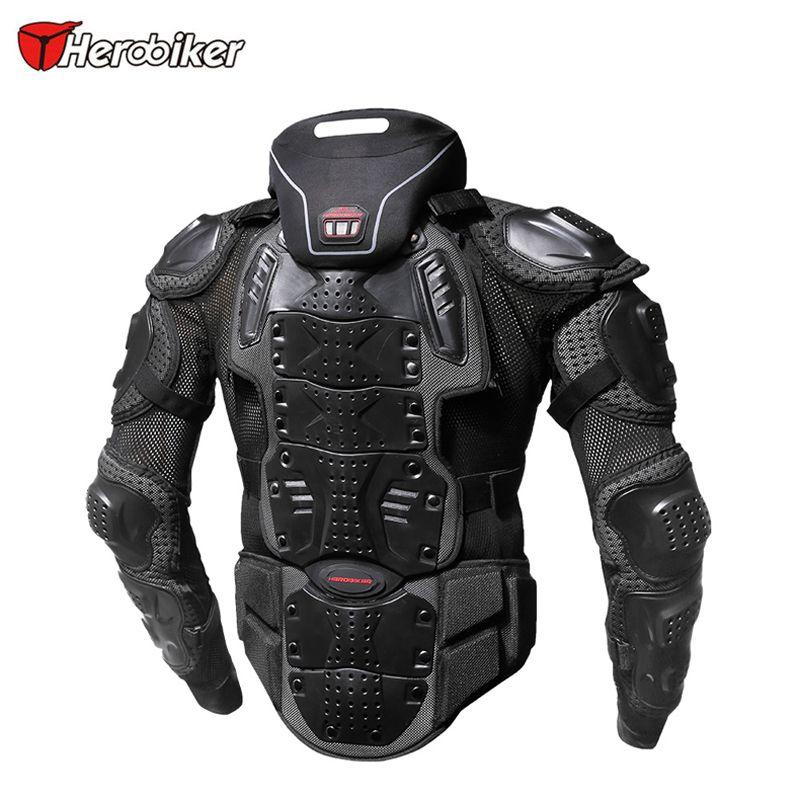 HEROBIKER Moto Armatura del rivestimento di motocross che corre motociclo fuoristrada Attrezzatura di protezione Body Guards Outdoor Sport Aggiungi collo Prodector