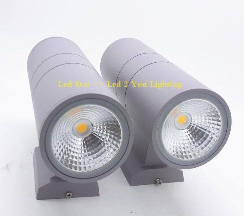 COB Up Down Led Wall Lamps 6W 10W 14W 20W 24W 36W Outdoor Waterproof Led Wall Pack Lights AC 110-240V UL FCC