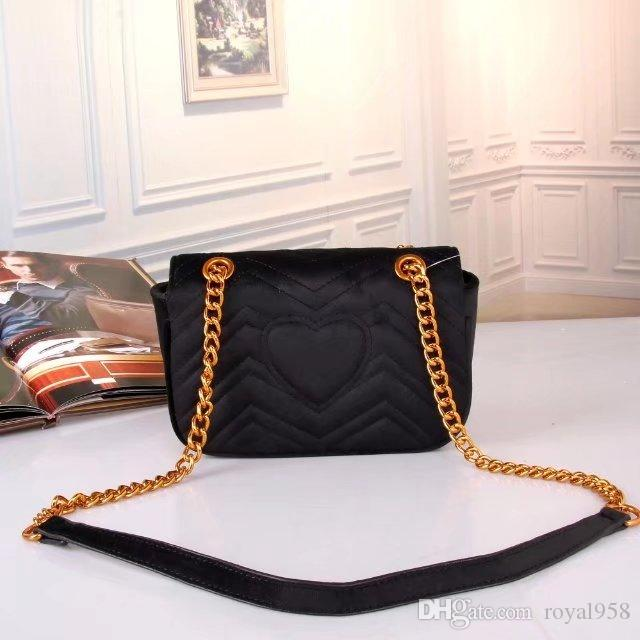 2018 New Vogue Style Velvet material Women's Hnadbags Shoulder Message Bag Chain Bags Wiith Free Shipping