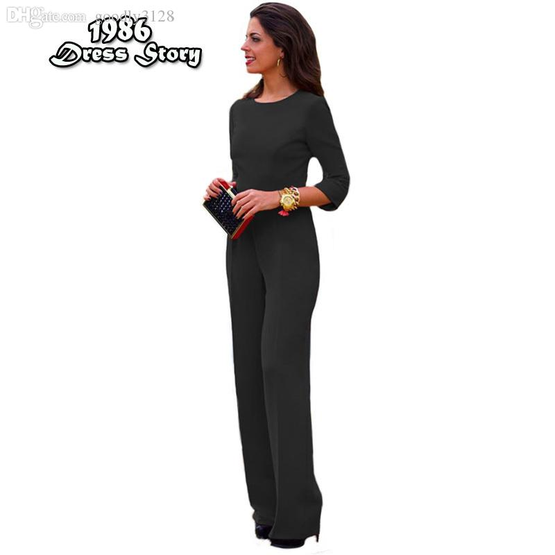 Wholesale-Plus Size Women Red Jumpsuit Backless Sexy Full Sleeve Rompers Womens Jumpsuit Skinny Bodysuit Macaquinho