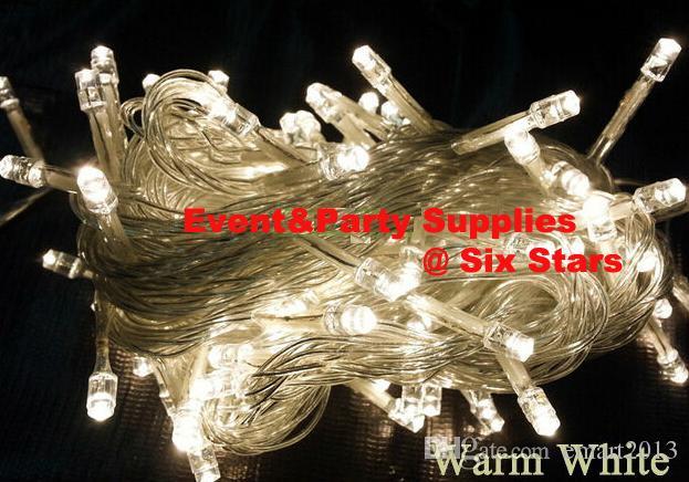 PROMOSYON ÖĞELERI 10 M 100 LEDS Açık Tel LED Dize Işıklar 110 V / 220 V için Noel Partisi dekorasyon X'mas tatil ışıkları