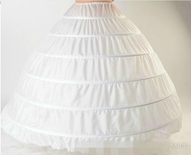 2019 бальное платье юбка нижнее белье белый кринолин нижняя юбка свадебные юбки свадебное платье Slip 6 обруч юбка кринолин для пышное платье