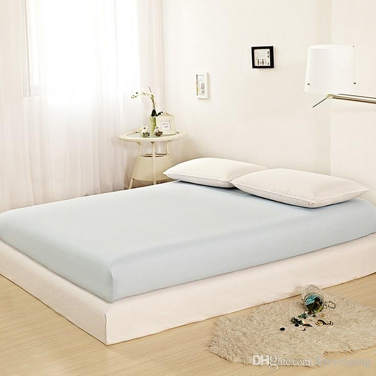 2020 Solid Color Fitted Sheet Memory Foam Mattress Topper