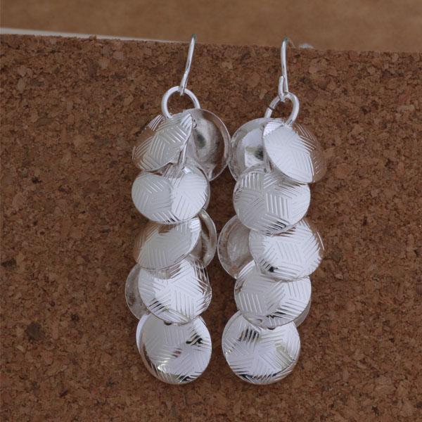 Мода (изготовление ювелирных изделий) 20 шт много текстур диск серьги стерлингового серебра 925 заводская цена мода обуви серьги