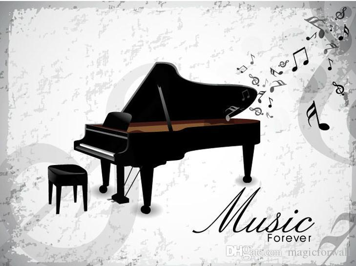Piano Wall Art Mural Poster Decor