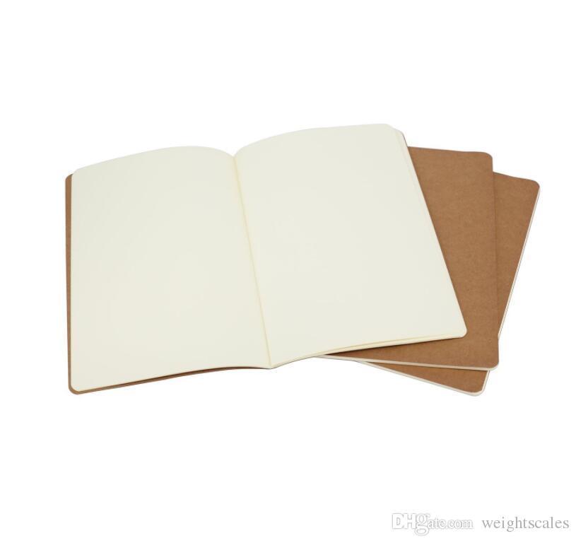 Kraft Brown دفتر يوميات السفر المبطّن Soft Cover Notebooks A5 الحجم 210 مم × 140 مم 60 الصفحات 30 صفائح القرطاسية اللوازم المكتبية