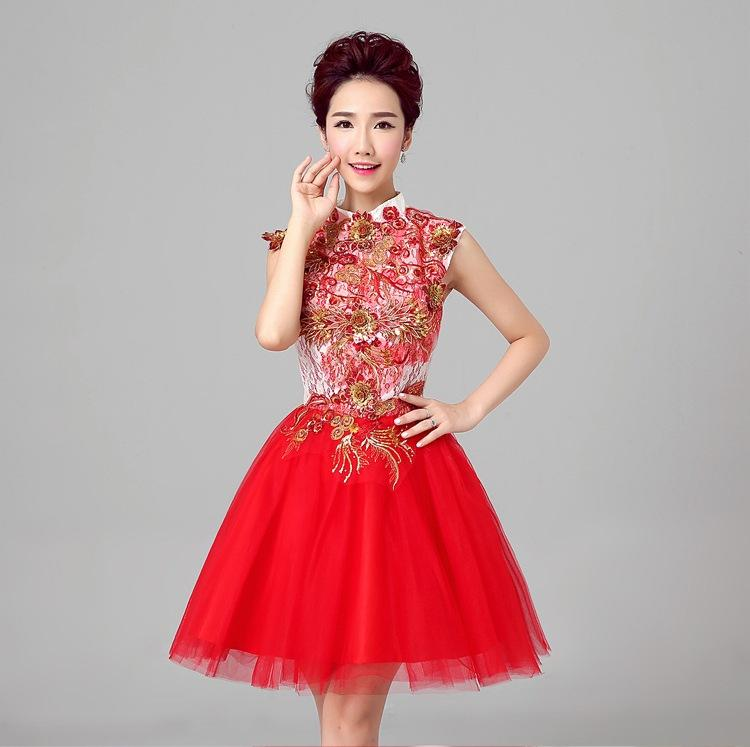 Shanghai Story cocktail dress short Dresses Satin Bride dress Bridesmaid Dresses girl ladies sexy Clothes for pary Club Stage 3 color