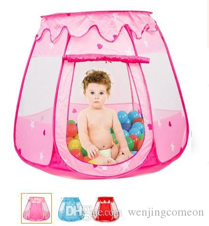 3 Colors Large Children Kids Play Tents Girls Boys Ocean Ball Pit Pool Toy Tent Princess Castle Play TentIndoor & Outdoor Use Playhouse