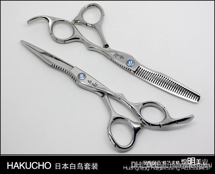 """Nożyczki do włosów 6 """"2 sztuk / partia Fryzjer Nożyczki Nożyce do cięcia nożycowy 30% Przerzedzenie Proste Snips + Różowe nożyce"""