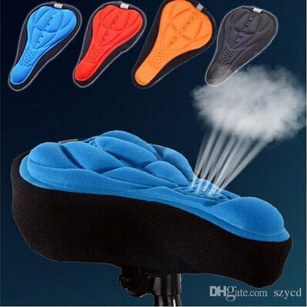 New Cycling Bike Saddle Comfortable Silicone Gel Seat Cover Cushion Soft Bicycle Pad