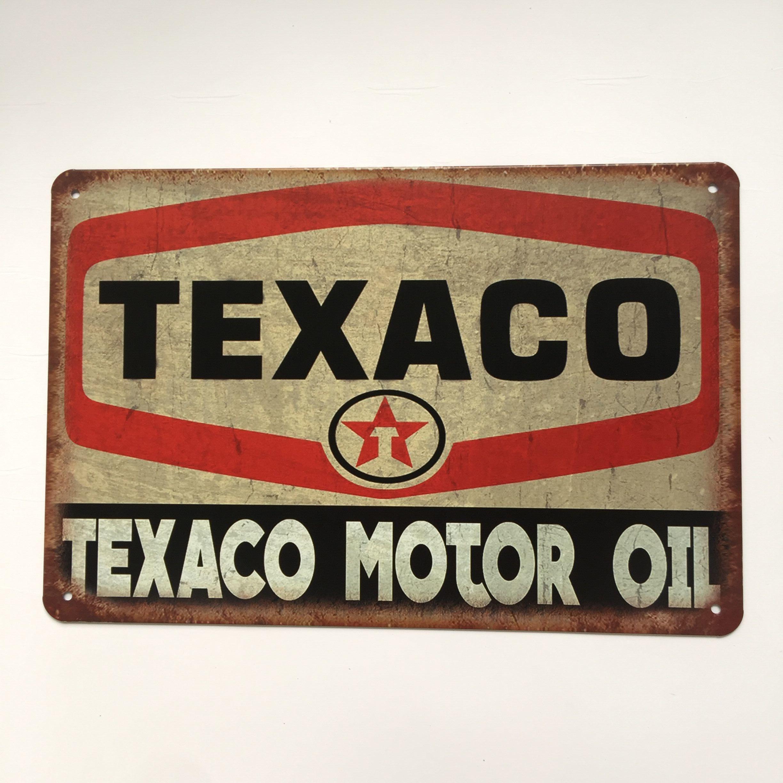 Großhandel Großhandel Texaco Motor Oil Blechschild Vintage Home Bar ...