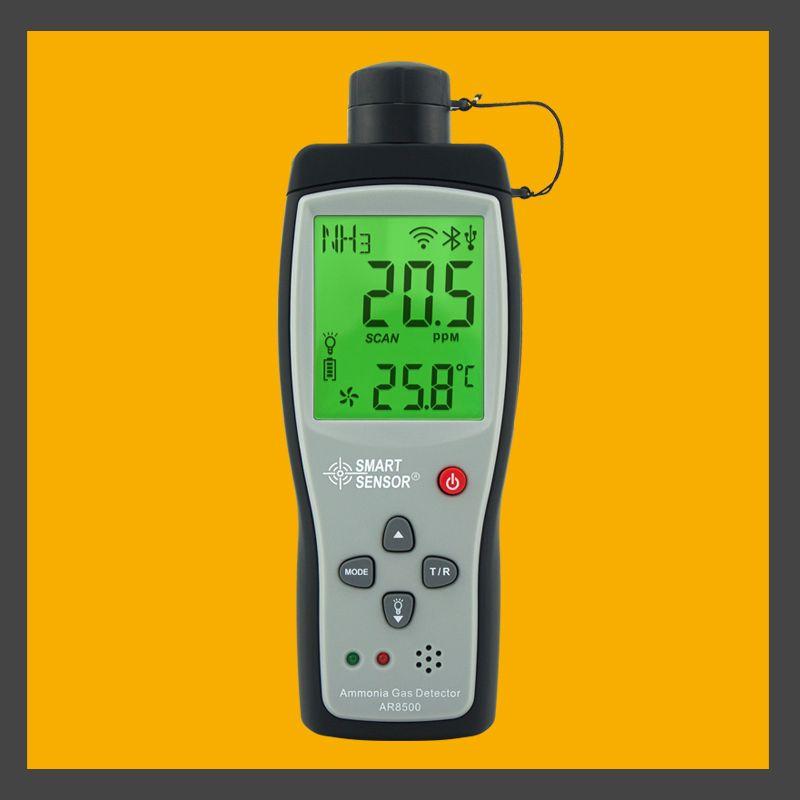 ハンドヘルドアンモニアガスNH 3検出器メーターテスターモニター範囲0~100ppmサウンドライトアラームLIバッテリーAR8500